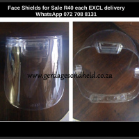 Face Shields R40 EXCLUDING DELIVERY